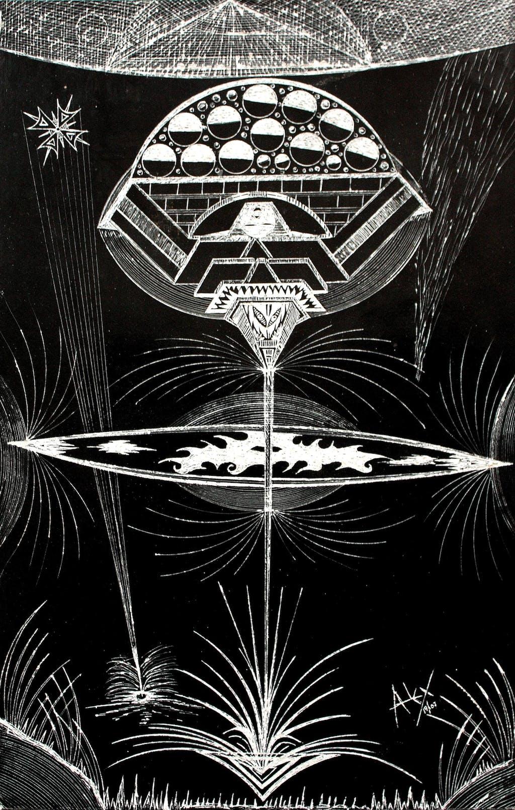 este se llama: la copa cosmica - © christian berst — art brut