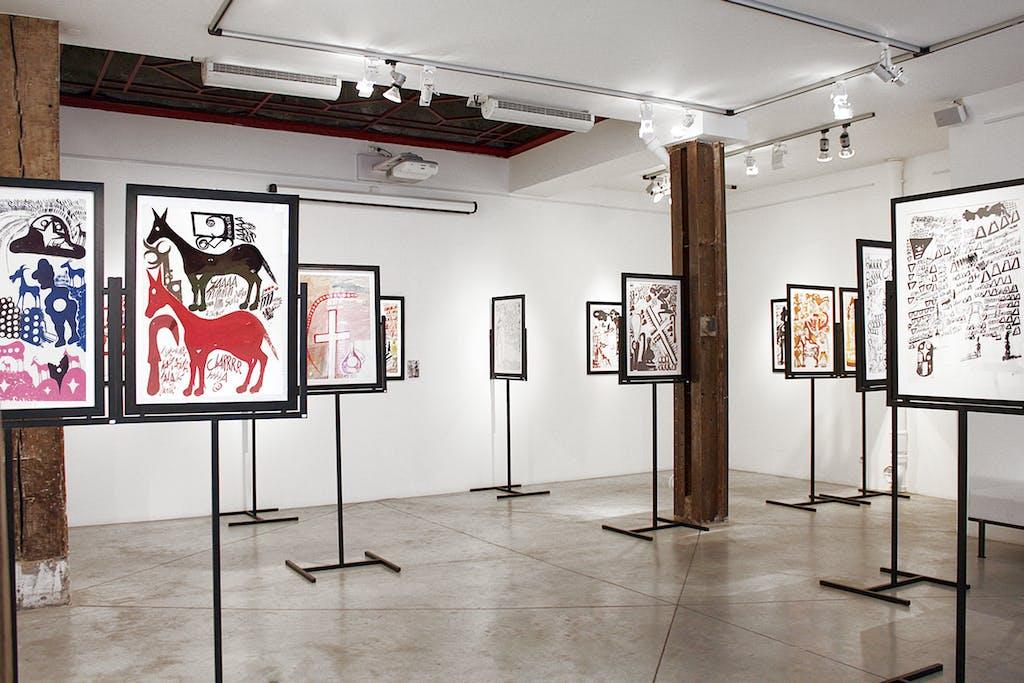Exhibition view of *Carlo Zinelli : a convulsive beauty*, christian berst art brut, Paris, 2011 - © ©christian berst art brut, christian berst — art brut