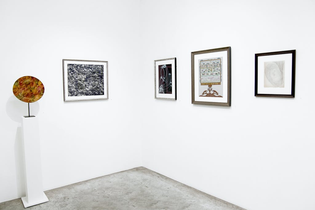 Exhibition view of *Beyond : on the edge of the visible and the invisible*, christian berst art brut, Paris, 2019. - © christian berst art brut, photo: Elena Groud, christian berst — art brut