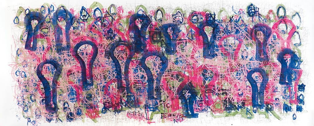 untitled (pink w/ purple light bulbs) - © christian berst — art brut