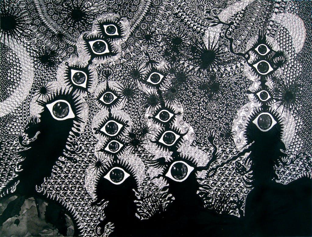 Cosmic Song- Les veilleurs  - © christian berst — art brut