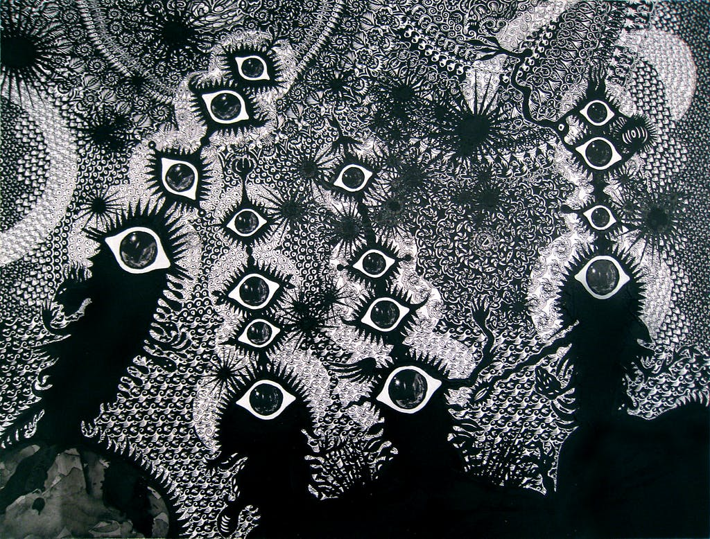 Cosmic Song - the watchers  - © christian berst — art brut