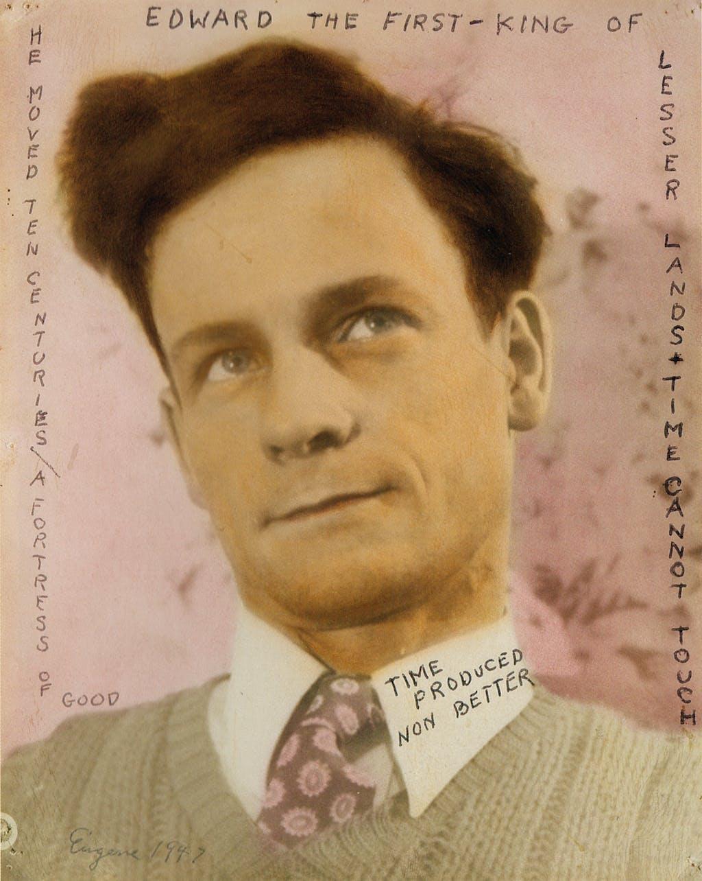 eugene von bruenchenhein, self-portrait, 1947. - © christian berst — art brut