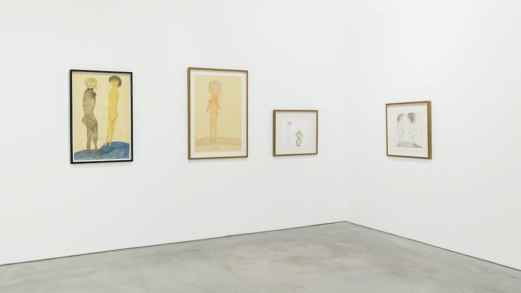 Vue de l'exposition *Extravaganza*, commissaire : Antonia Gaeta, Centro de Arte Oliva, João de Madeira, Portugal, 2019 - © ©️ Centro de Arte Oliva, christian berst — art brut
