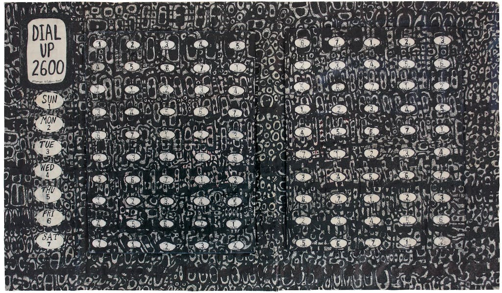 George Widener, untitled, 2009. ink and felt tip on rice paper, 12.99 x 21.65 in - © christian berst — art brut