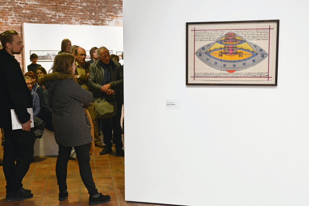 exhibition view of *brut now: l'art brut au temps des technologies*, musées de belfort, belfort, from october 29th to january 16th, 2017. - © musées de belfort, christian berst — art brut