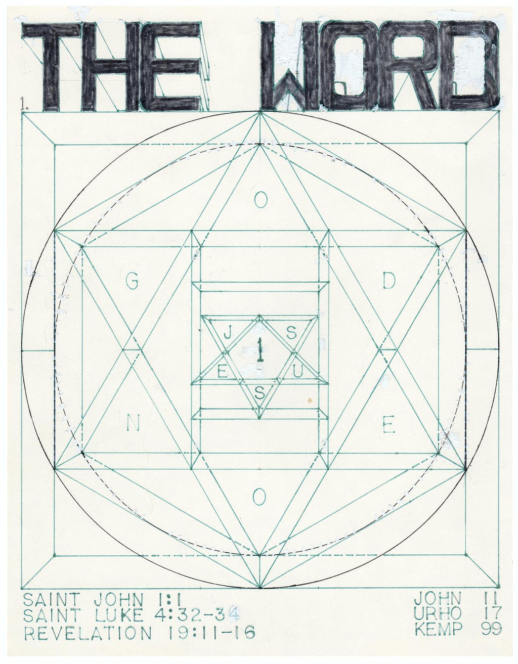 untitled (The Word) - © christian berst — art brut