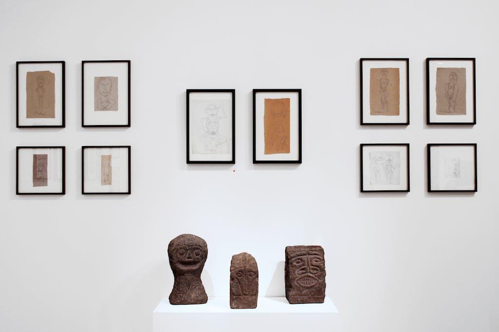 vue de l'exposition *joseph barbiero, au-dessus du volcan*, christian berst art brut, paris, 2011. - © christian berst art brut, christian berst — art brut