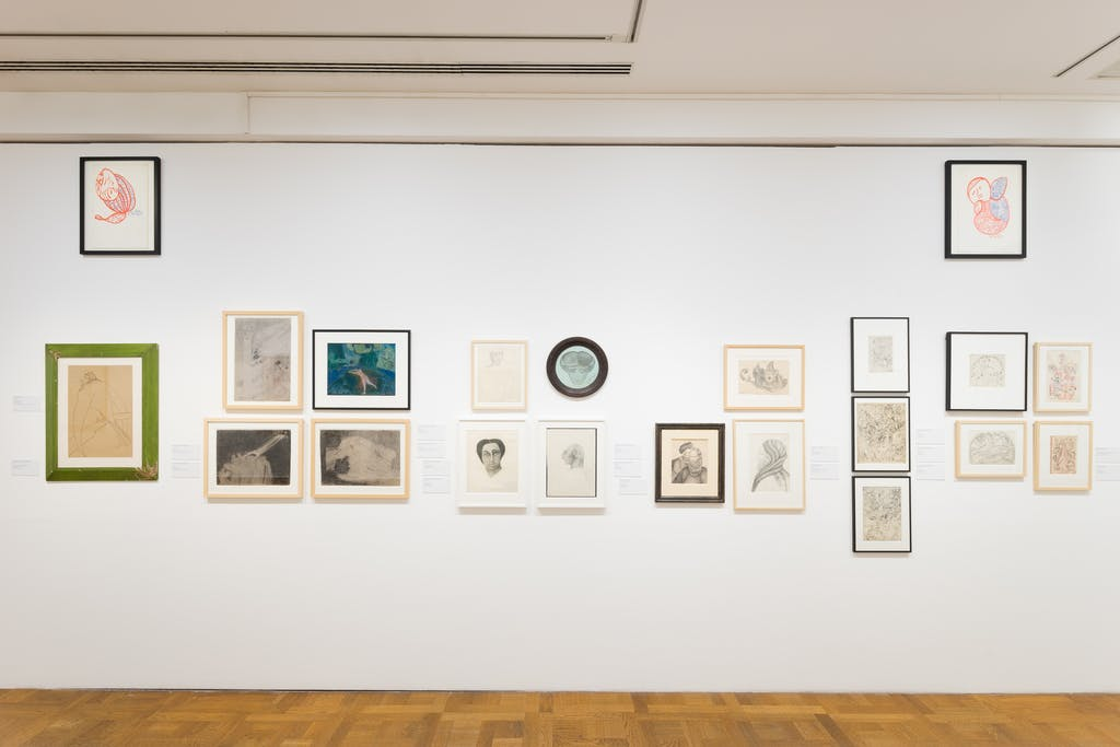 exhibition view of *flying high, künstlerinnen der art brut*, curators : ingried brugger, hannah rieger, veronika rudorfer, kunstforum, vienna, 2019. - © kunstforum, photo: nilo klotz, christian berst — art brut