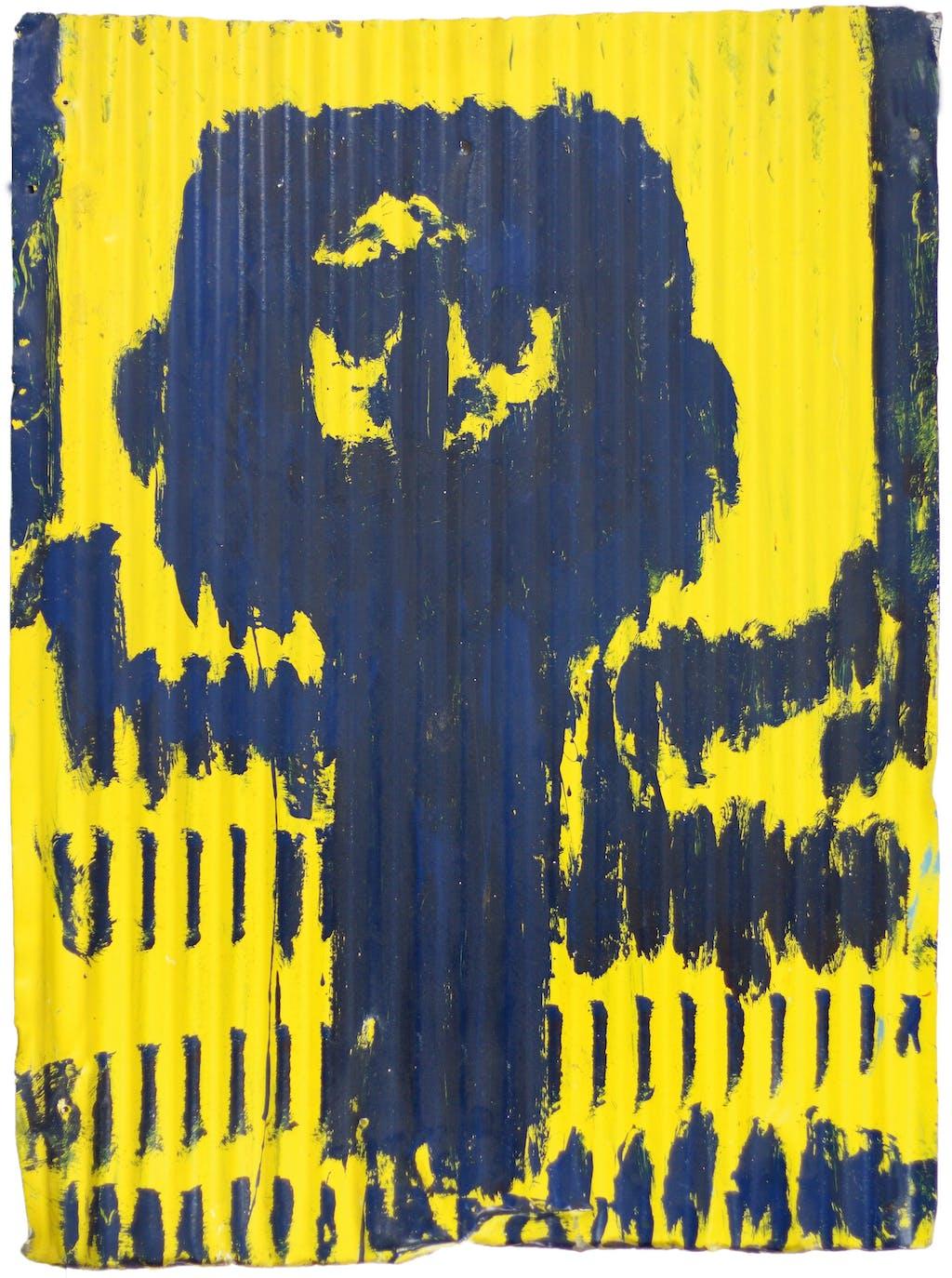 Untitled (blue figure) - © christian berst — art brut
