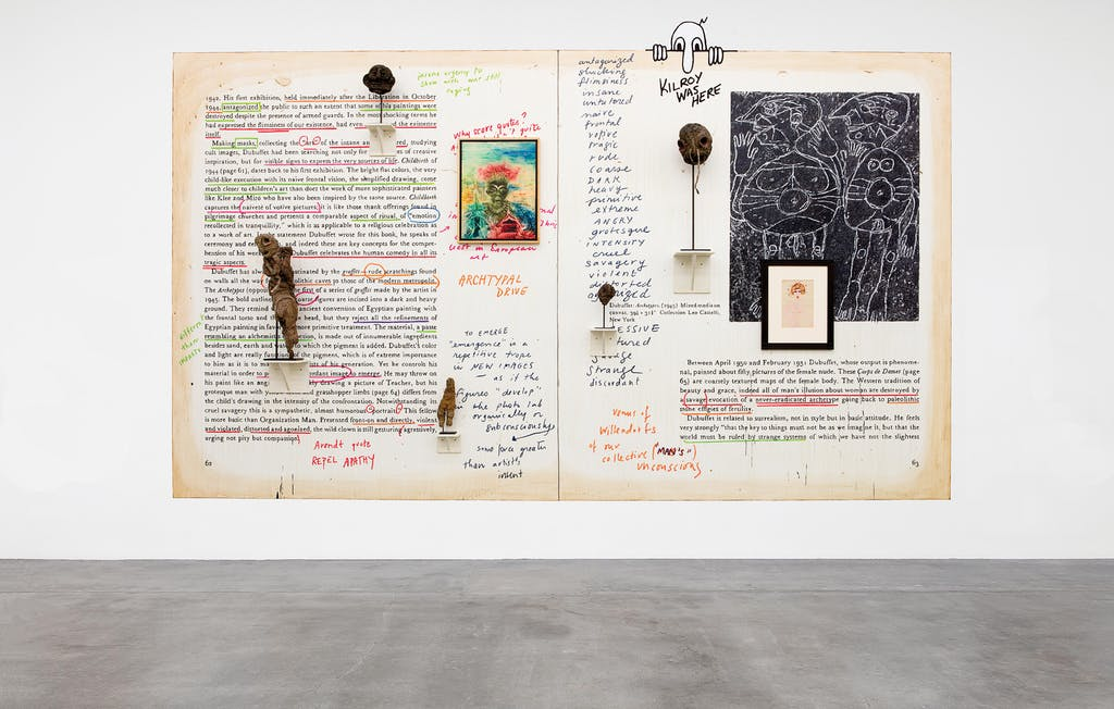 exhibition view of *new images of man*, curator : alison m. gingeras, blum & poe gallery, los angeles, united states, 2020. - © blum & poe gallery, photo: makenzie goodman, christian berst — art brut