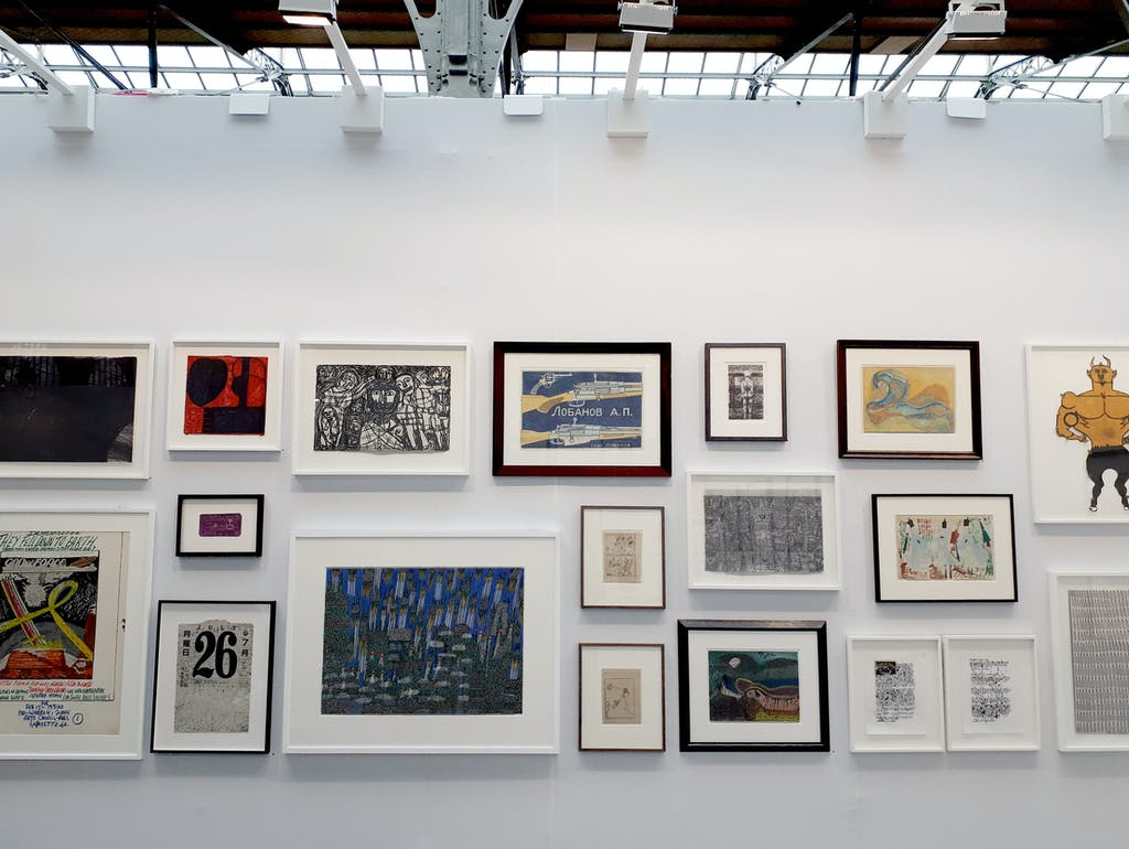 christian berst art burt booth, *drawing now*, le carreau du temple, paris, from march 22nd to 25th, 2018. - © christian berst art brut, christian berst — art brut