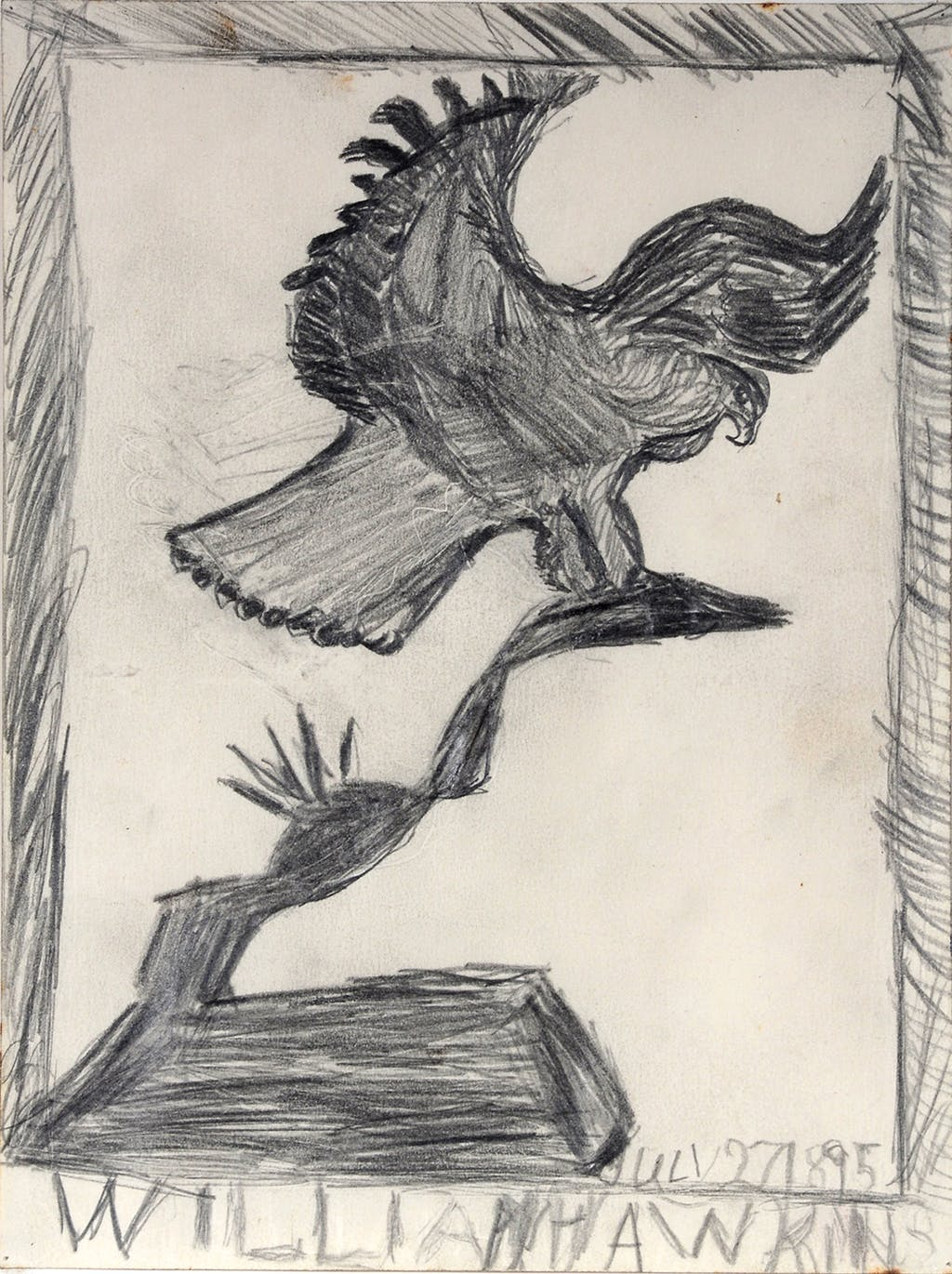 sans titre (eagle on cactus) - © christian berst — art brut