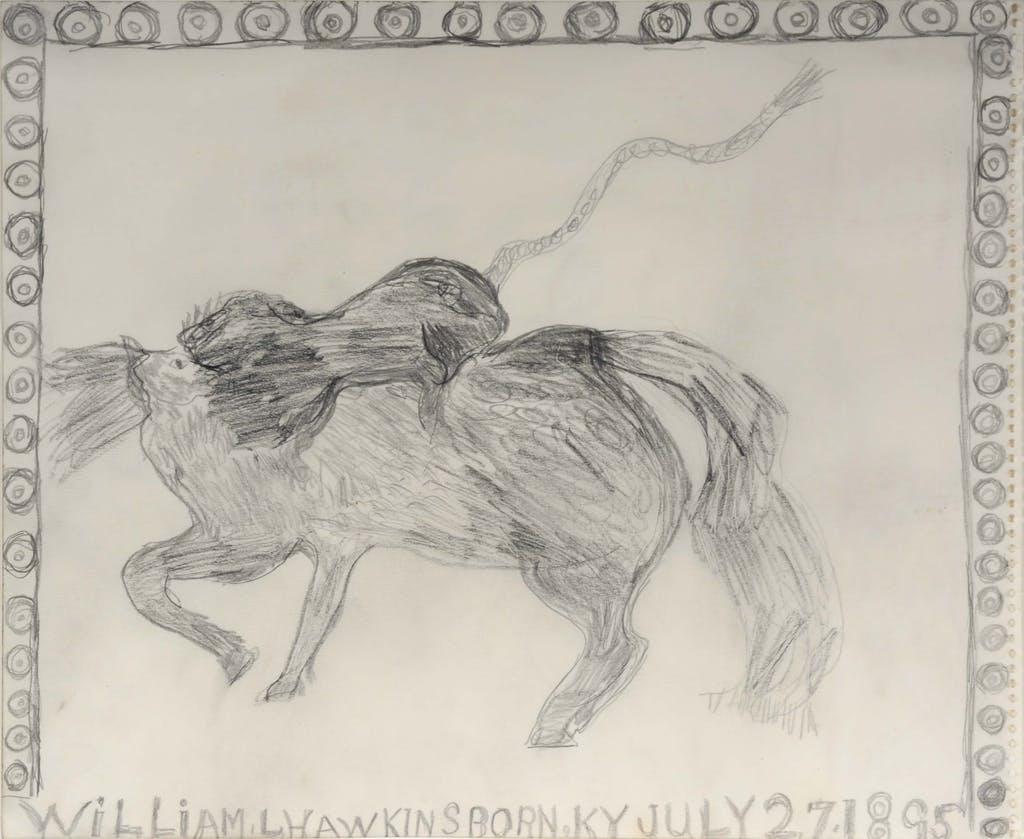 sans titre (lion attacking a horse) - © christian berst — art brut