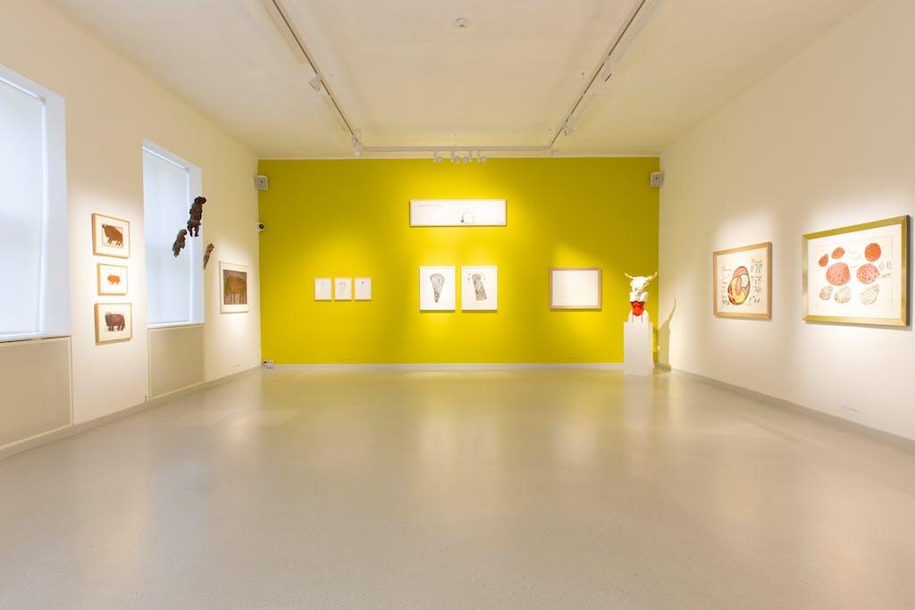vue de l'exposition *in flaura & fauna brut*, galerie gugging, klosterneuburg, autriche, 2019. - © galerie gugging, christian berst — art brut