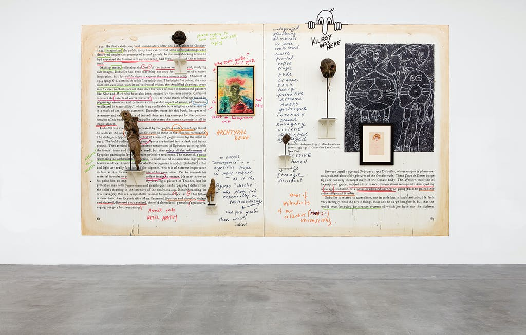 exhibition view of *new images of man*, curator: alison m. gingeras, blum and poe gallery, los angeles, united states, 2020. - © blum and poe gallery, photo: makenzie goodman, christian berst — art brut