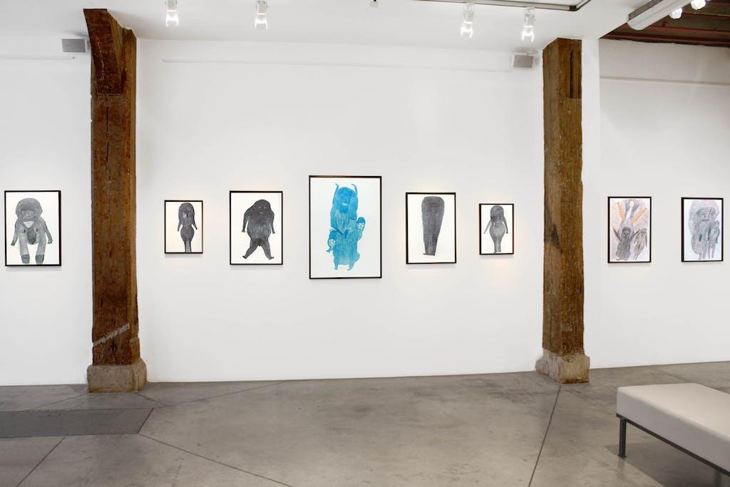 Vue de l'exposition *Davood Koochaki : un conte persan*, christian berst art brut, Paris, 2013 - © ©christian berst art brut, christian berst — art brut