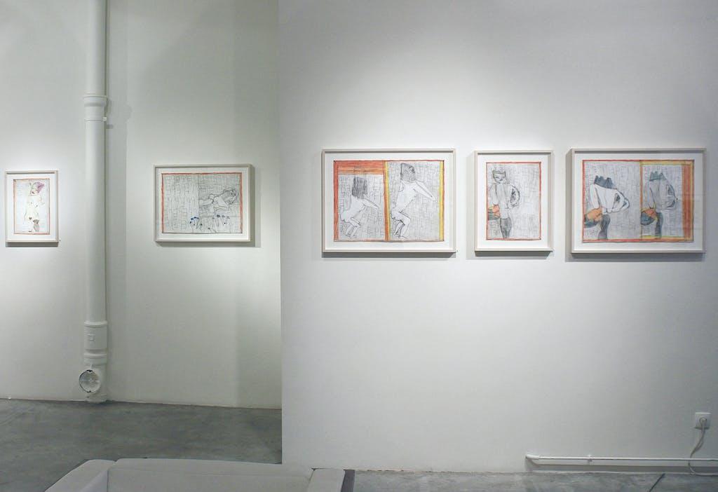 Vue de l'exposition *Josef Hofer : transmutations*, christian berst art brut, Paris, 2015 - © ©christian berst art brut, christian berst — art brut