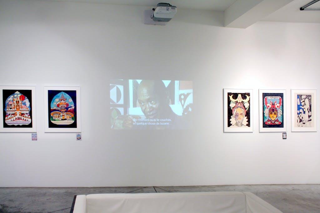 Vue de l'exposition *Prophet Royal Robertson : space gospel*, christian berst art brut, Paris, 2016 - © ©christian berst art brut, christian berst — art brut