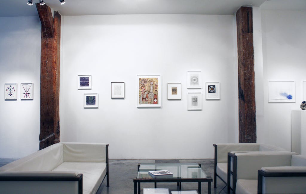 exhibition view of *in abstracto*, christian berst art brut, paris, 2017. - © christian berst art brut, christian berst — art brut