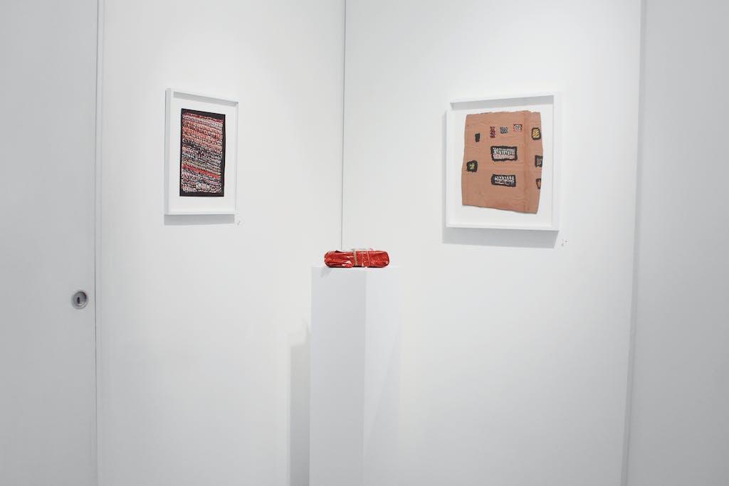 Vue de l'exposition *Pascal Tassini : nexus*, christian berst art brut, Paris, 2017. - © christian berst art brut, christian berst — art brut