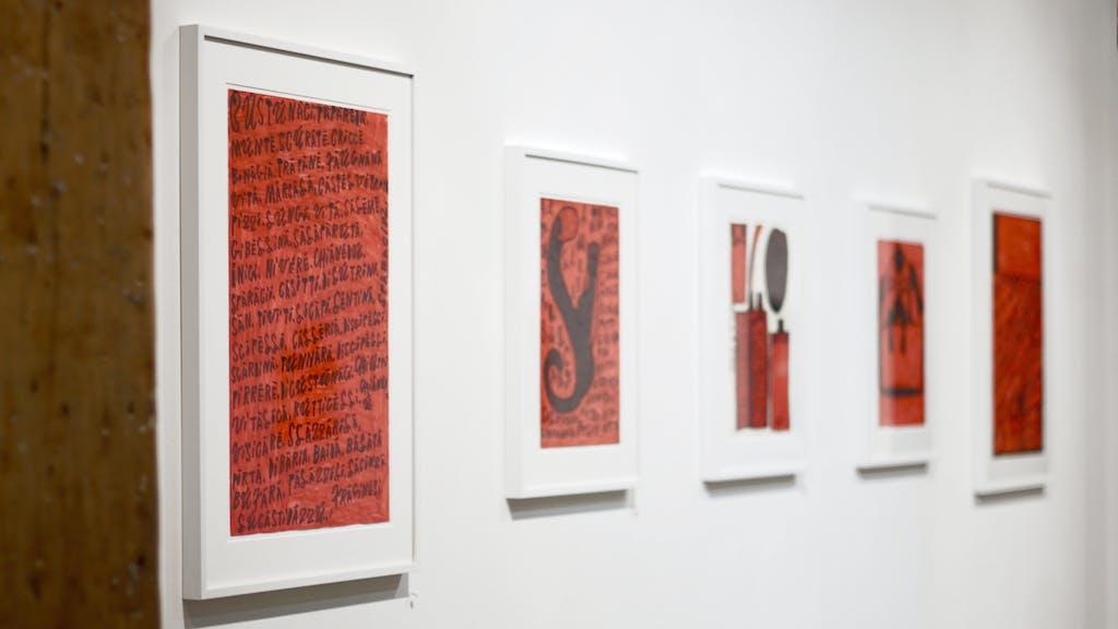 exhibition view of *giovanni bosco : dottore di tutto #2*, christian berst art brut, paris, 2018. - © christian berst art brut, christian berst — art brut