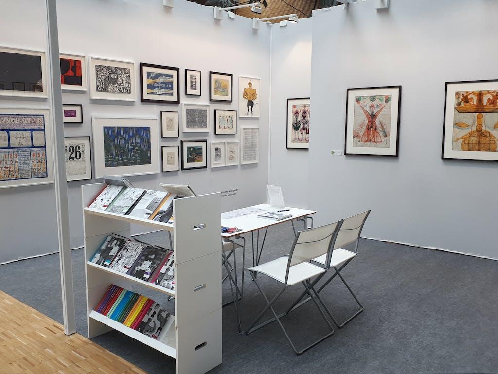 christian berst art brut booth, *drawing now art fair*, le carreau du temple, paris, 2018. - © christian berst art brut, christian berst — art brut