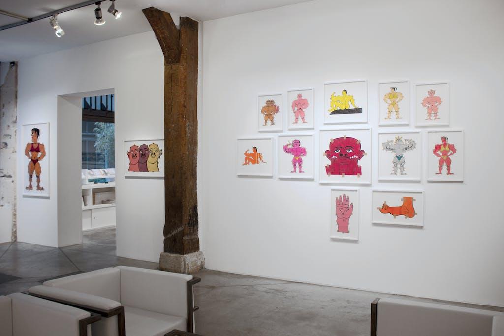 Exhibition view of *Fuerza Cubana 2: Misleidys & Rigo*, christian berst art brut, Paris, 2018. - © christian berst art brut, christian berst — art brut