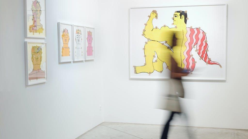 exhibition view of *fuerza cubana 2: misleidys & rigo*, christian berst art brut, paris, 2018. - © anaïs docteur, christian berst — art brut