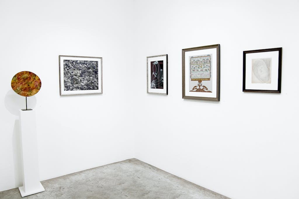 exhibition view of *the beyond : on the edge of the visible and the invisible*, christian berst art brut, paris, 2019. - © christian berst art brut, photo: elena groud, christian berst — art brut