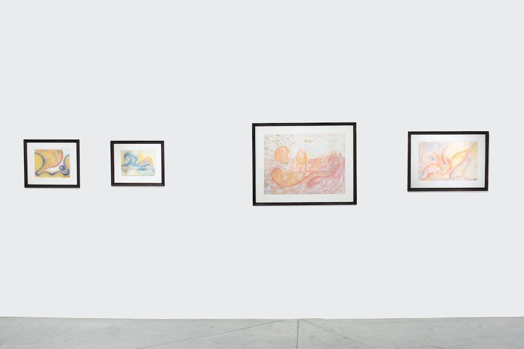 Exhibition view of *Henriette Zéphir : a woman under the influence*, christian berst art brut, Paris, 2011 - © ©christian berst art brut, christian berst — art brut